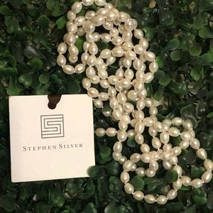 """Glamour Strand of Freshwater Pearls 64"""""""